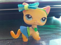Littlest Pet Shop Accessories Clothes Custom Blue Outfit LPS Pet bow Cat Dog