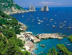 Island of Capri off of the coast of Naples