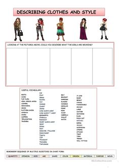 FASHION AND STYLE worksheet - Free ESL printable worksheets made by teachers