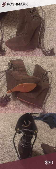 Booties Brown booties Shoes Ankle Boots & Booties
