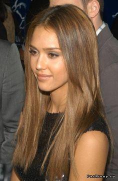 Красивый и естественный цвет волос(Джессика Альба).