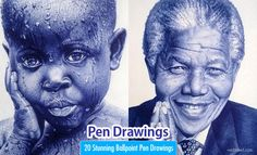 20 Realistic Ballpoint Pen Drawings from African Artist Enam Bosokah. Read full article: http://webneel.com/pen-drawings | more http://webneel.com/drawings | Follow us www.pinterest.com/webneel