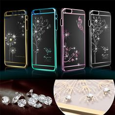 Luxury Crystal Rhinestone Dirt resistant Case cover for iPhone 6 4.7inch Diamond Shining Bling Electroplating Drill Phone case-in Phone Bags & Cases from Phones & Telecommunications on Aliexpress.com | Alibaba Group