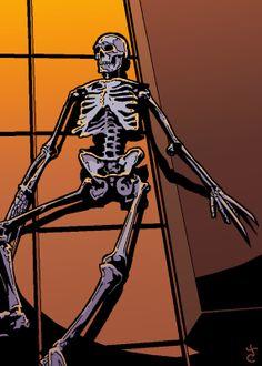 Saturday Sketch: Wolverine's Skeleton #Marvel #Wolverine #Skeleton #Limbo #Belasco #Magik #sketchcard #Comic #Book