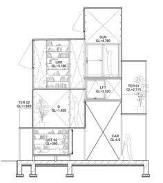 House NA by Sou Fujimoto Architects Sou Fujimoto, Japanese Architecture, Classical Architecture, Landscape Architecture, Architecture Graphics, Architecture Drawings, Office Design Concepts, Old Abandoned Houses, Micro House