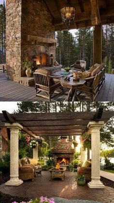 Amazing Outdoor Fireplace Designs - This is how you will want to upgrade your outdoor space for the coming summer. These affordable decor hacks will upgrade your patio or backyard in no time Outdoor Living Rooms, Outside Living, Backyard Patio, Backyard Landscaping, Landscaping Ideas, Simple Outdoor Kitchen, Outdoor Kitchens, Outdoor Fireplace Designs, Outdoor Fireplaces