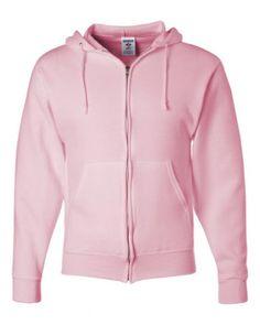 $24.99 - $28.99 cool Jerzees Z NuBlend Full-Zip Hoody Hoodie Hooded Sweatshirt - Pink
