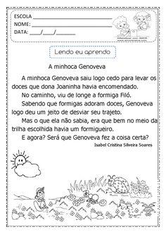 Alfabetizar com AMOR: A MINHOCA GENOVEVA - INTERDISCIPLINAR / 2º ANO - 3º ANO