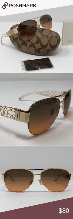897b01b82b Coach L079 Gold Crystal Gold Grey Orange Gradient Coach L079 Addison  Sunglasses HC7042 917895 Gold