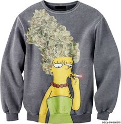sexy sweaters tumblr. marge simpson. #420 #weed