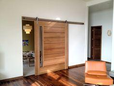 Rift Oak Barn Door | Faber | Custom Cabinetry, Millwork, and Furniture | Spokane Wa
