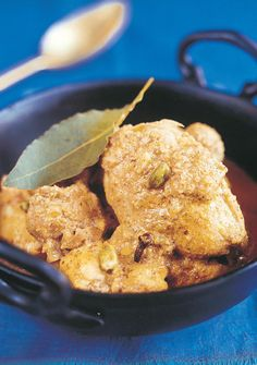 Chicken Korma is a fragrant Indian dish that is loved around the world. Madhur Jaffrey's authentic recipe shows how easy it is to make this family-friendly curry at home. Chef Recipes, Food Network Recipes, Cooking Recipes, Recipies, Korma, Garam Masala, Chicken Curry, Indian Food Recipes, Asian Recipes