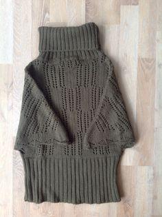 Sweater polera de lana tejida, manga corta, color oliva #zara / green olive sweater. Compra esta prenda online! www.saveweb.com.ar