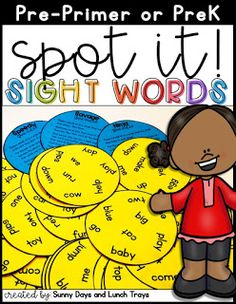 Sunny Days and Lunch Trays: Pre-Primer Sight Word Game Teaching Sight Words, Dolch Sight Words, Sight Word Games, Sight Word Activities, Pre Primer Sight Words, Kindergarten Reading Activities, High Frequency Words, New Things To Learn, Word Work