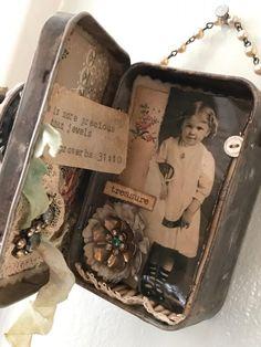 More Precious Than Jewels Tin Can Art, Tin Art, Handmade Headbands, Handmade Crafts, Handmade Rugs, Altered Tins, Altered Art, Tin Can Crafts, Paper Crafts