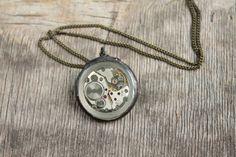 Steampunk Necklace  Steampunk Jewelry by eteniren on Etsy, $18.70