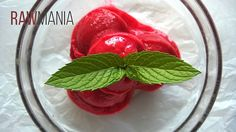 Malinová zmrzlina / Raspberry ice cream  Put in a blender 1-2 c of frozen raspberries, add 8-10 dates and some sweetener if you want. Blend for fwe minutes and enjoy!