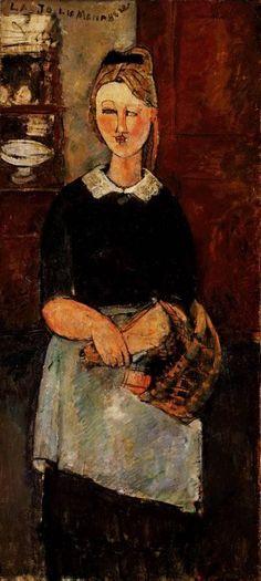 The Pretty Housewife  - Amedeo Modigliani 1915
