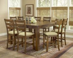 Hillsdale D4941-835-Set Hemstead Pub Dining Collection by Hillsdale. $1337.00. Hemstead Pub Dining Collection by Hillsdale D4941-835-Set. Solid wood construction and a rich dark oak finish combined with traditional farm house slat back chairs and impressive square legs create a wonderful rustic Italian country charm in Hilldale's Hemstead dining collection. Table features a take off leaf at a dining or gathering height with coordinating chairs or counter stools. Please re...