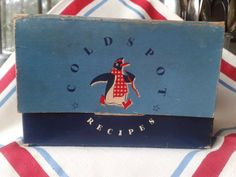 vintage Sears Coldspot cardboard recipe box file by susiestratford