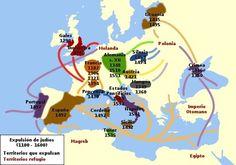 Expulsión de judíos en Europa (1100-1600).