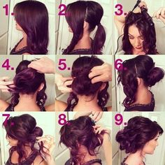 Prom Hairstyles for Long Hair: Messy Updo Tutorials