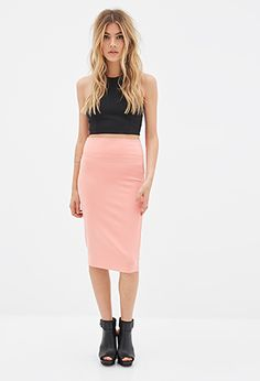 Stretch-Knit Pencil Skirt | FOREVER21 - 2000081845