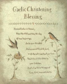 Irish blessing proverb print by Donna Atkns - Choose from Marriage, Christening, Inspirational and more