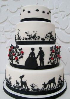 Silhouette Wedding Cake.