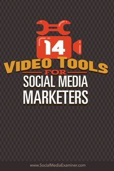 Do you want to add video to your social media marketing? Today's tools make it easy to record and edit videos for social media marketing and ad campaigns. In this article I'll share 14 tools marketers can use to create screencasts, montages and slideshows. Via @smexaminer.