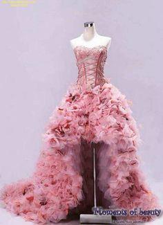 De meeste kosteneffective roze korte trouwjurken met lange SLEEP.