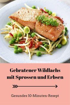 Gebratener Wildlachs mit Sprossen & Erbsen (Foto: ©Hubertus Schüler)
