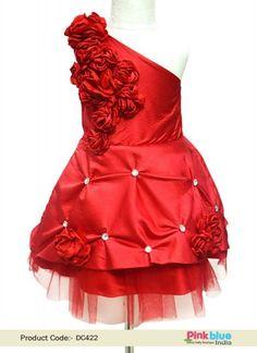 330f7e1ff Elegant One Shoulder Dress - Flower Girl Birthday Dress - Baby Party Wear  Tulle Dress -