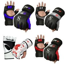Authentic Rex Leather MMA Grappling Gloves UFC Fight Boxing Punch Bag Sparring Z