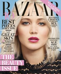 """Pin for Later: The 1 Dress From Award Season Jennifer Lawrence Calls Her """"Plan B"""" Jennifer's May Harper's Bazaar Cover Jennifer is wearing Dior Haute Couture."""