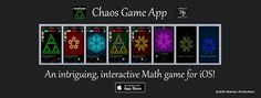 Chaos Game, Mathematics Games, Chaos Theory, Game App, Math Games, Teaching, Iphone, Education, Onderwijs