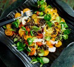 Salad recipies: lentil and tomatoe salad/linssi-tomaattisalaatti