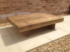 3ft x 3ft rustic chunky coffee table, £175.00