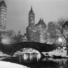 Gapstow Bridge. Central Park, New York, 1960s