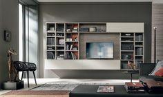 Meuble Tv Bibliotheque Design : Séjour > Collection Meuble Tv Bibliothèque Design Italien Tomasella