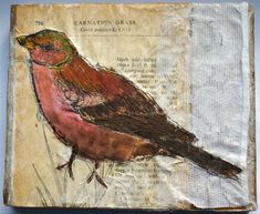 Anne Kelly Textiles - Bird from nature block series