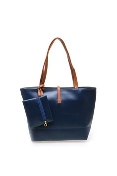 Belanja Zada Tote Bag with Mini Pouch - Navy Indonesia Murah - Belanja Best  Fashion di 250ee4cbc9