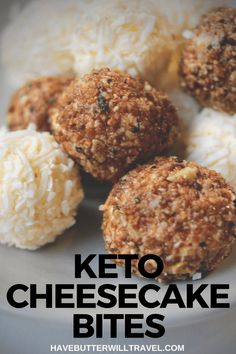 These keto cheesecake bites are perfect to have in the fridge for when you are wanting something sweet. At 1 gram of carb each they are pretty much perfect! Sugarfree Cheesecake Recipes, Sugar Free Cheesecake, Low Carb Cheesecake Recipe, Cheesecake Bites, Dessert Recipes, Keto Friendly Desserts, Low Carb Desserts, Low Carb Recipes, Ketogenic Recipes