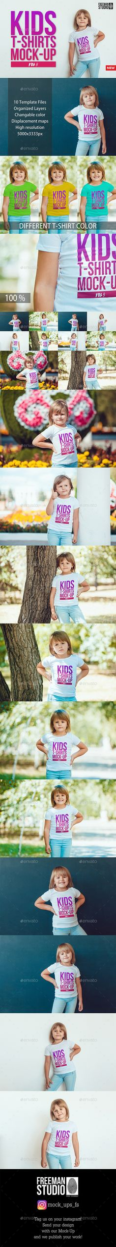 Kids TShirt Mock-Up  — PSD Template #realistic #t-shirt • Download ➝ https://graphicriver.net/item/kids-tshirt-mockup/18261438?ref=pxcr