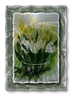 Delicate Calla Lilies Flower Art