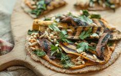 Hummus veggie pizza.  Whole Foods Market