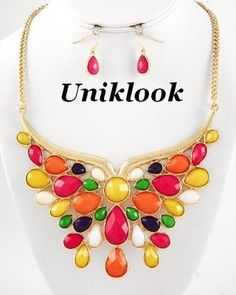 #uniklook candy colors necklace