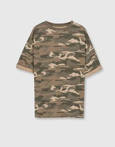 T-shirt molleton camouflage - Sweat - Vêtements - Homme - PULL&BEAR France