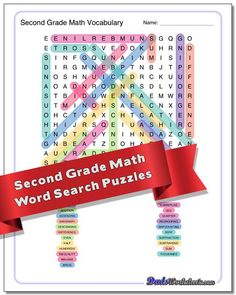 Math Word Search Puzzles for first through sixth grade, including specific puzzles for geometry, algebra and many other topic areas. Geometry Words, Basic Geometry, Second Grade Math, Sixth Grade, Math Logic Puzzles, Free Printable Math Worksheets, Math Vocabulary, Word Search Puzzles, Math Words