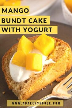 Fresh mango and Wallaby Organic Greek yogurt combine to make this beautiful mango Bundt cake. Baking with yogurt gives your cake structure and flavor. Fruit Recipes, Sweet Recipes, Cake Recipes, Dessert Recipes, Baking With Yogurt, Greek Cake, Baking Science, Cake Structure, Mango Cake
